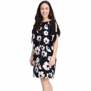 Vince Camuto Floral Cold Shoulder Dress
